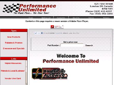 Performance Unlimited (519-453-4307) - Website thumbnail - http://www.performanceunlimited.ca