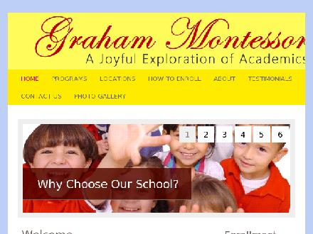 Graham Montessori School (778-397-0191) - Onglet de site Web - http://www.grahammontessori.com
