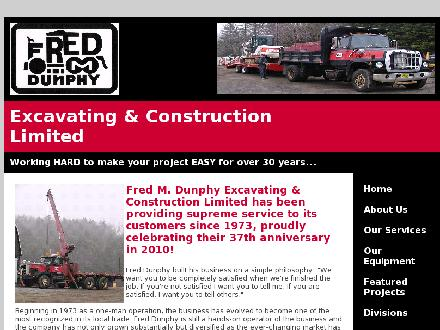 Dunphy Fred M Excavating And Construction Ltd (902-435-4171) - Website thumbnail - http://joelro.com/fmd/index.html