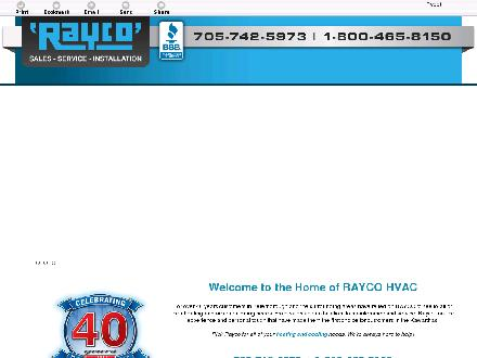 Rayco Refrigeration (Peterborough) Ltd (705-742-5973) - Onglet de site Web - http://raycoheating.com/