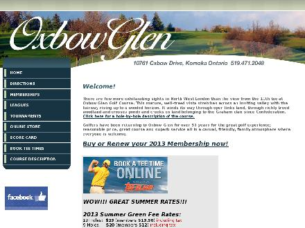 Oxbow Glen Golf Course (519-471-2048) - Website thumbnail - http://www.oxbowglengolf.com