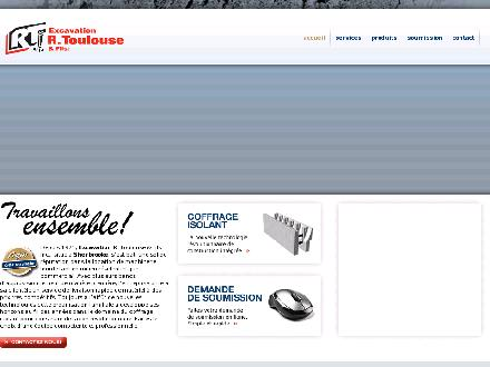 Excavation R Toulouse & Fils Inc (819-846-0404) - Website thumbnail - http://rtoulouse.ca/
