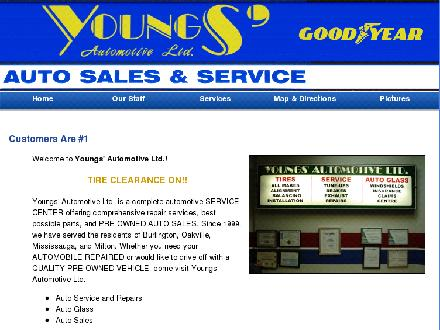 Youngs' Automotive Ltd (289-813-1723) - Onglet de site Web - http://www.youngsauto.ca