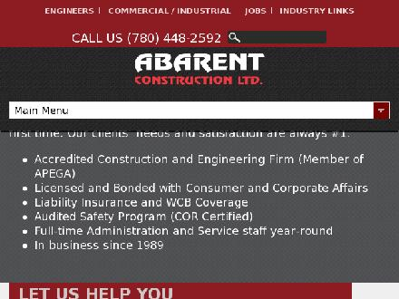 Abarent Construction Ltd (780-613-0103) - Website thumbnail - http://www.abarent.net