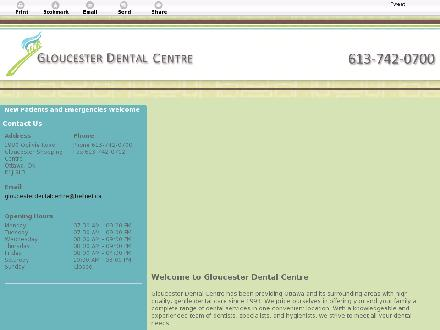 Gloucester Dental Centre (613-742-0700) - Website thumbnail - http://gloucesterdental.ca/