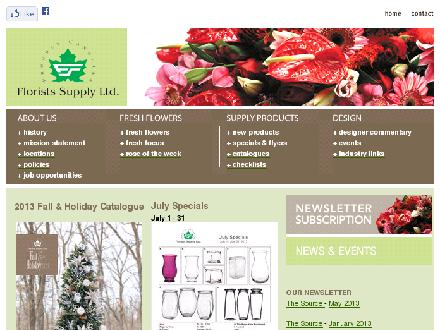 Florists Supply Ltd (604-630-4688) - Onglet de site Web - http://www.floristssupply.com