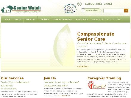Senior Watch Inc (506-452-9903) - Website thumbnail - http://www.seniorwatch.com