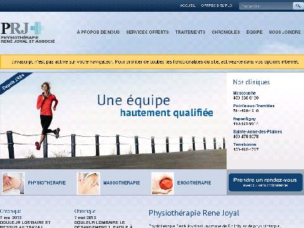 Physioth&eacute;rapie Ren&eacute; Joyal &amp; Associ&eacute;s (450-232-2914) - Onglet de site Web - http://www.physioprj.com