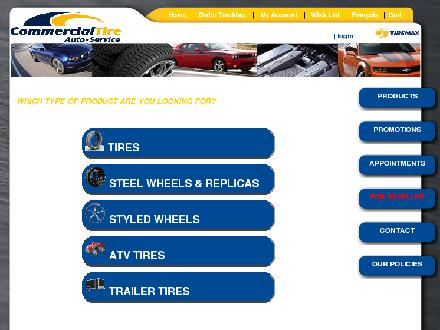 Commercial Tire-Auto Service (613-909-2247) - Onglet de site Web - http://www.com-tires.com