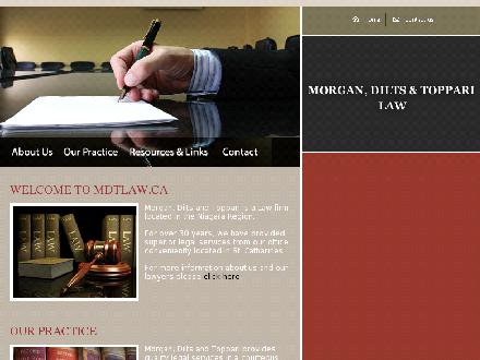 Morgan Dilts & Toppari (905-685-7391) - Website thumbnail - http://www.mdtlaw.ca