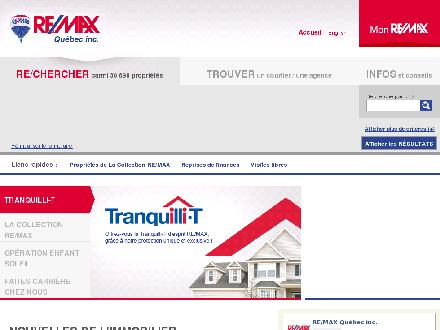 RE/MAX Quebec Inc (1-800-361-9325) - Onglet de site Web - http://www.remax-quebec.com