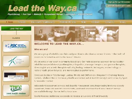Peterborough Physiotherapy & Sports Injuries Clinic (705-741-2284) - Website thumbnail - http://www.leadtheway.ca