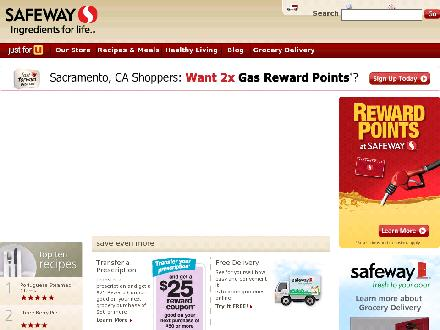 Safeway Pharmacy (1-800-723-3929) - Onglet de site Web - http://www.safeway.com