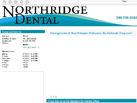Layton Andrew J Dr (250-756-8305) - Website thumbnail - http://northridgedental.ca/