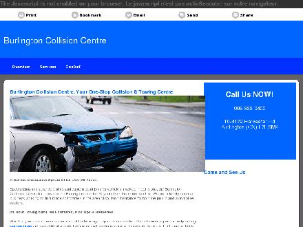 Burlington Collision Centre (905-333-9400) - Website thumbnail - http://burlingtoncollisioncentre.ca
