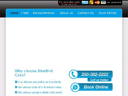 Blue Bird Cabs Ltd (250-382-2222) - Onglet de site Web - http://www.taxicab.com