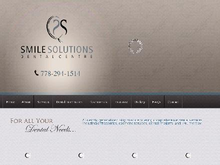 Smile Solutions Dental Centre (778-294-1514) - Onglet de site Web - http://www.smilesolutionsdentalcentre.com