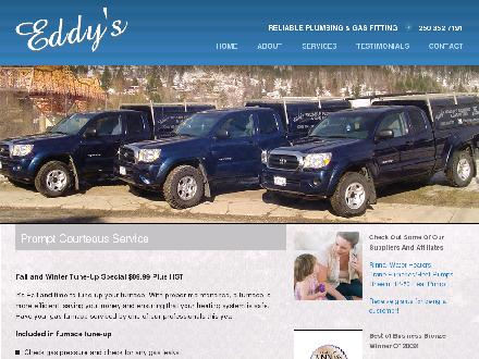 Eddy's Reliable Plumbing &amp; Gas Fitting (250-352-7191) - Website thumbnail - http://www.eddysplumbing.com