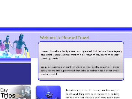 Howard Bus Service Ltd (613-924-2720) - Onglet de site Web - http://www.howardtravel.ca
