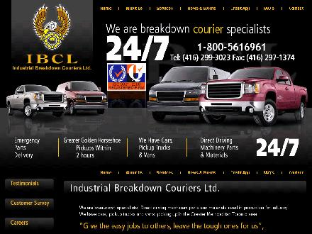 Industrial Breakdown Couriers Ltd (416-299-3023) - Onglet de site Web - http://www.ibcl.ca