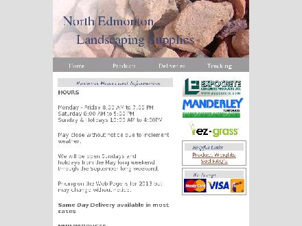 North Edmonton Landscape Supplies Ltd (780-456-0480) - Onglet de site Web - http://www.northedmontonlandscaping.com