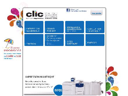 Clic Solution Impression (418-842-2830) - Onglet de site Web - http://clic-impression.com/