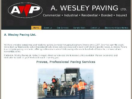 A Wesley Paving Ltd (905-842-4141) - Onglet de site Web - http://www.awesleypaving.com