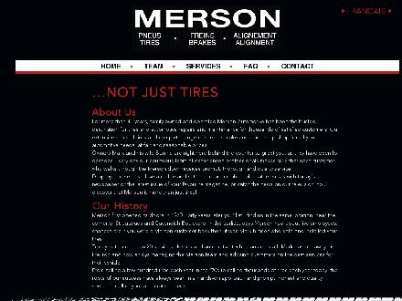 Merson (514-487-5545) - Website thumbnail - http://www.mersonauto.com