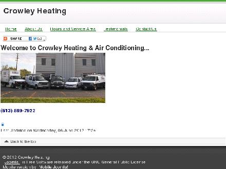 Crowley Heating &amp; AC Service Ottawa (613-599-7922) - Website thumbnail - http://www.crowleyheating.com