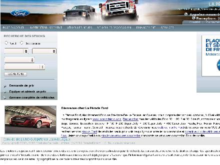 La P&eacute;rade Ford Inc (418-325-2244) - Onglet de site Web - http://www.laperadeford.com