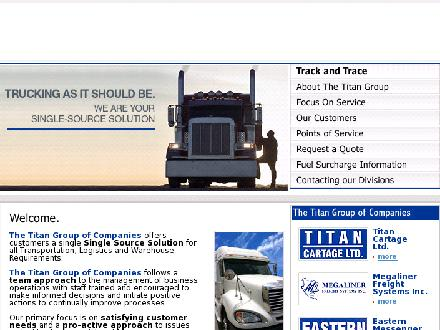 Titan Cartage Ltd (905-799-2675) - Website thumbnail - http://www.titangroup.ca
