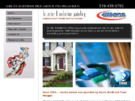 Strictly Residential Professional Painting Services (519-438-9782) - Website thumbnail - http://www.strictlyresidential.com
