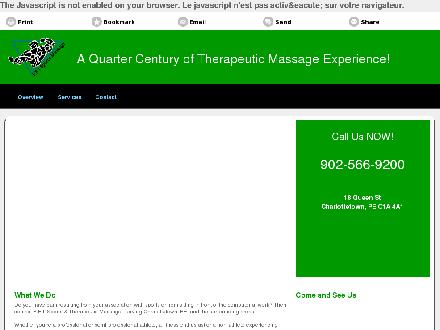 PEI Sports & Therapeutic Massage (902-566-9200) - Website thumbnail - http://peisportsmassage.ca/