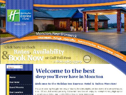 Holiday Inn Express Hotel &amp; Suites (506-800-1955) - Onglet de site Web - http://www.hiemoncton.com