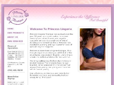Princess Lingerie Boutique (780-431-0156) - Website thumbnail - http://www.princesslingerie.ca
