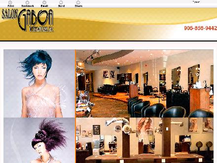 Salon Gaboa International Inc (905-856-9442) - Onglet de site Web - http://salongaboa.com/