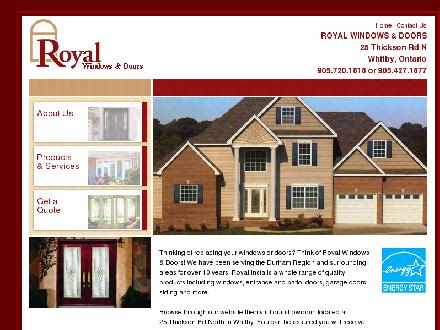 Royal Windows and Doors (905-427-1877) - Onglet de site Web - http://www.royalwindowsanddoors.ca/