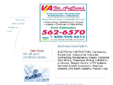 Aucoin's Vic Electric Limited (1-877-759-1871) - Onglet de site Web - http://www.vicaucoinselectric.com