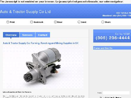 Auto &amp; Tractor Supply Co Ltd (306-236-4444) - Website thumbnail - http://autoandtractorsupply.com
