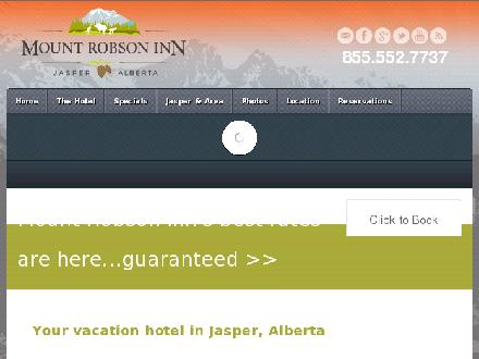 Mount Robson Inn (780-852-9810) - Onglet de site Web - http://www.mountrobsoninn.com