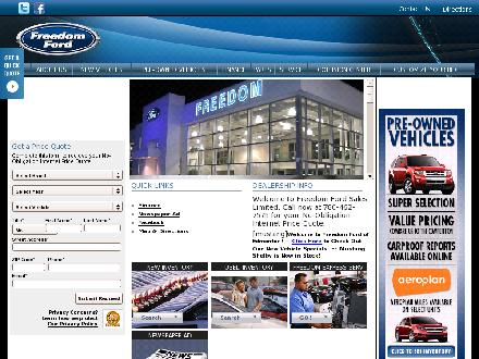 Freedom Ford Sales Limited (780-401-9615) - Onglet de site Web - http://www.freedomford.ca