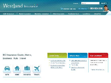 Westland Insurance (1-866-234-9097) - Website thumbnail - http://www.westland-insurance.com