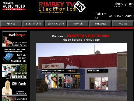 Rimbey TV & Electronics (1998) (403-843-2460) - Website thumbnail - http://www.rimbeytv.com