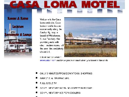 Casa Loma Motel (867-633-2266) - Onglet de site Web - http://www.yukoninfo.com/casaloma