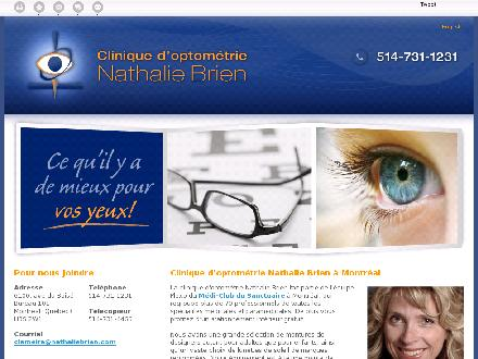 Clinique D'Optométrie Nathalie Brien (514-731-1231) - Website thumbnail - http://nathaliebrien.ca/