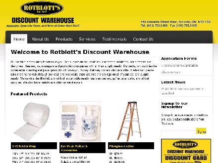 Rotblott's Discount Warehouse (416-703-0456) - Website thumbnail - http://www.rotblotts.com
