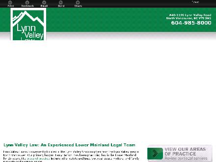 Lynn Valley Law (604-982-9634) - Onglet de site Web - http://lynnvalleylaw.com/