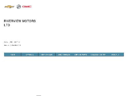 Riverview Motors (709-489-2138) - Website thumbnail - http://www.riverviewmotors.ca