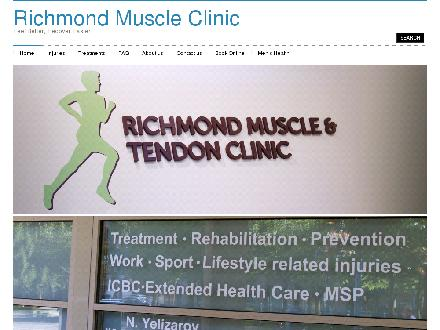 Richmond Muscle & Tendon Clinic (604-273-3334) - Onglet de site Web - http://www.musclestrain.ca