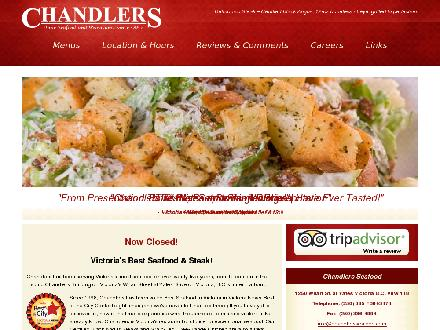 Chandlers Seafood Restaurant (250-385-3474) - Website thumbnail - http://www.chandlersseafood.com